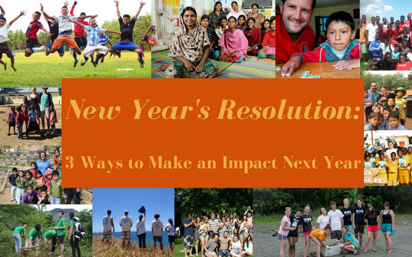 New Year's Resolution: 3 Ways to Make an Impact Next Year